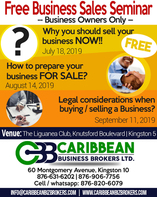 Free Business Sale Seminar - The Liguanea Club, Knutsford Boulevard New Kingston,