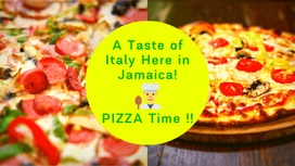 A Taste of Italy Here in Jamaica! PIZZA!!